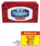 Royale Facial Tissue 3 Ply