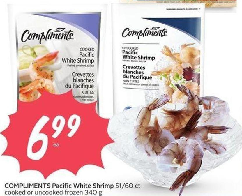 Compliments Pacific White Shrimp