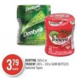 Dentyne (60's) or Trident (40's - 50's) GUM Bottles