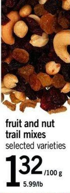 Fruit And Nut Trail Mixes