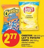 Cheetos - 180-310 g or Lay's Potato Chips - 240/255 g