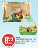Lindor Eggs (138g) - Mini Eggs (300g) or Gold Bunny (200g)