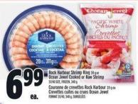 Rock Harbour Shrimp Ring 311 g or Ocean Jewel Cooked Or Raw Shrimp