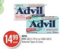 Advil Mini-gels (70's) or Liqui-gels