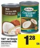 T&t Or Grace Coconut Milk - 398/400 mL
