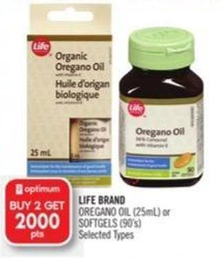 Life Brand Oregano Oil (25ml) or Softgels (90's)