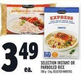 Selection Instant Or Parboiled Rice