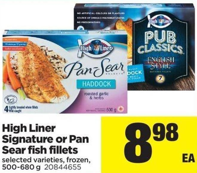 High Liner Signature Or Pan Sear Fish Fillets - 500-680 G
