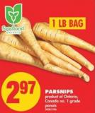 Parsnips - 1 Lb Bag