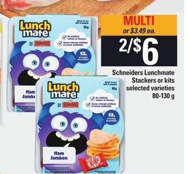 Schneiders Lunchmate Stackers Or Kits - 80-130 g