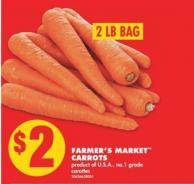 Farmer's Market Carrots - 2 Lb Bag