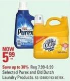Selected Purex and Old Dutch Laundry Products