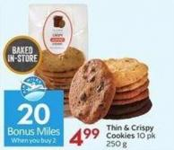 Thin & Crispy Cookies 10 Pk 250 G- 20 Air Miles