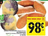 Sweet Potatoes Or Rutabagas