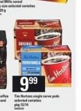 Tim Hortons Single Serve PODS - Pkg 12/14