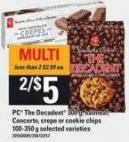 PC The Decadent 300 G - Oatmeal - Concerto - Crepe Or Cookie Chips 100-350 G