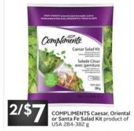 Compliments Caesar - Oriental or Santa Fe Salad Kit