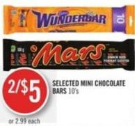 Selected Mini Chocolate Bars 10's
