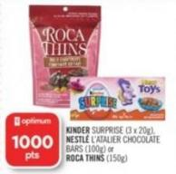 Kinder Surprise (3 X 20g) - Nestlé L'atalier Chocolate Bars (100g) or Roca Thins (150g)