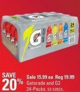 Gatorade and G2 24-packs