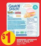Schneiders Lunchmate Grab'n Snack Kits - 50/68 g