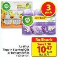 Air Wick Plug-in Scented Oils or Battery Refills