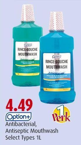Option+  Antibacterial - Antiseptic Mouthwash