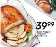 Bacon Wrapped Turducken Roast