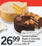 Sunset Pumpkin Maple Or Chocolate Peanut Butter Cake - 8in - 1.4/1.5 Kg