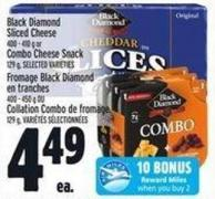 Black Diamond Sliced Cheese 400 - 410 g or Combo Cheese Snack  129 g