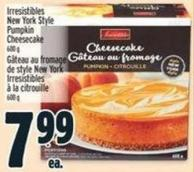 Irresistibles New York Style Pumpkin Cheesecake 600 G