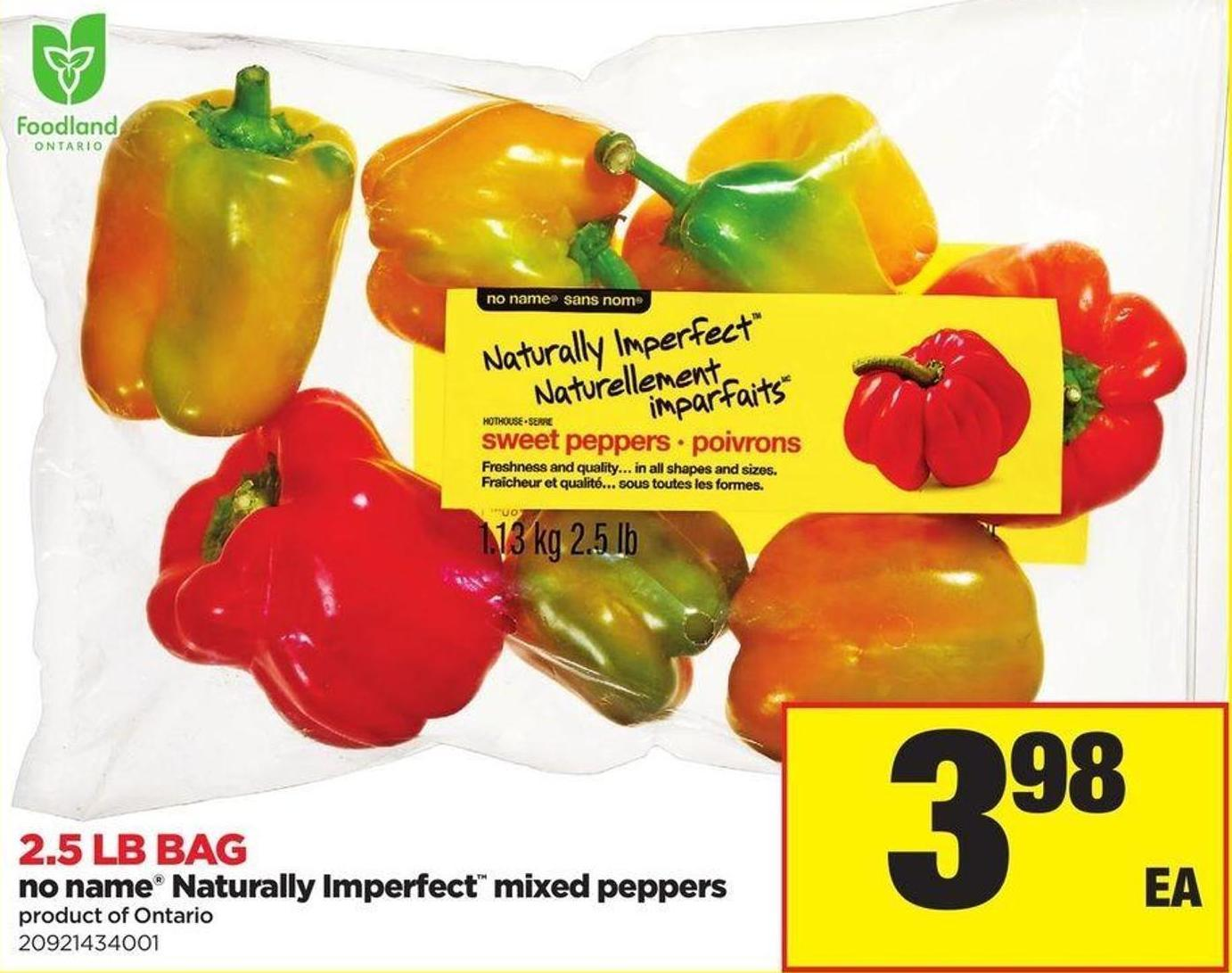 No Name Naturally Imperfect Mixed Peppers - 2.5 Lb. Bag