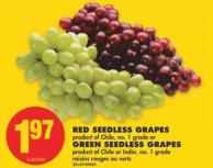 Red Seedless Grapes or Green Seedless Grapes