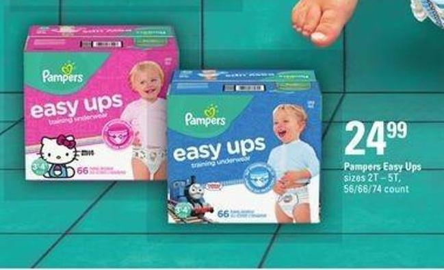 Pampers Easy Ups Sizes - 2t – 5t -