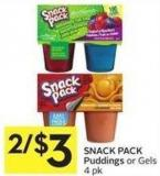 Snack Pack Puddings or Gels 4 Pk
