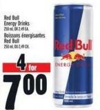Red Bull Energy Drinks 250 ml Or 2.49 Ea.