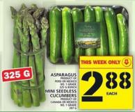Asparagus Or Mini Seedless Cucumbers