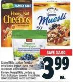 General Mills - Jordans Cereal Or Irresistibles Organic Frozen Fruit