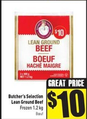Butcher's Selection Lean Ground Beef Frozen 1.2 Kg