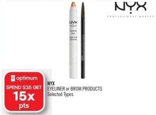 Nyx Eyeliner or Brow Products
