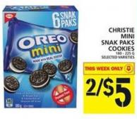 Christie Mini Snak Paks Cookies