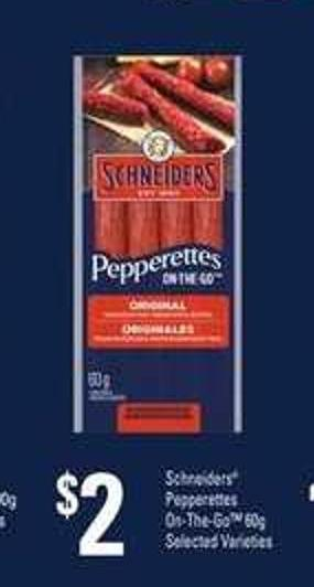 Schneiders Pepperettes On-the-go - 60g