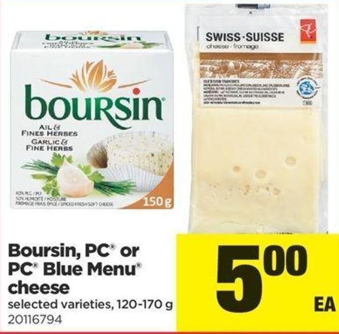 Boursin - PC Or PC Blue Menu Cheese - 120-170 G