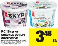 PC Skyr Or Coconut Yogurt Alternative - 500 g
