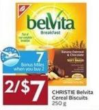 Christie Belvita Cereal Biscuits 250 g  7 Air Miles Bonus Miles
