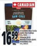 Irresistibles Nova Scotia Jumbo Raw Scallops 340 g