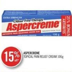 Aspercreme Topical Pain Relief Cream 106g