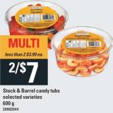 Stock & Barrel Candy Tubs - 600 g