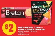 Dare Breton - Vinta or Bold N Baked Crackers - 100-250 g