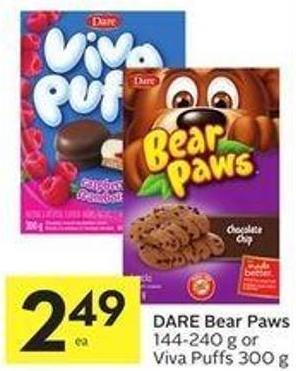 Dare Bear Paws 144-240 g or Viva Puffs 300 g